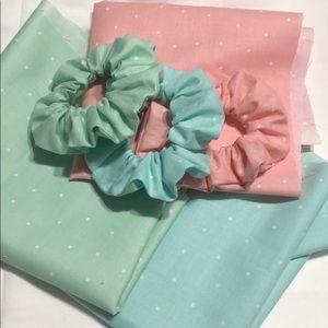 Spring scrunchie set